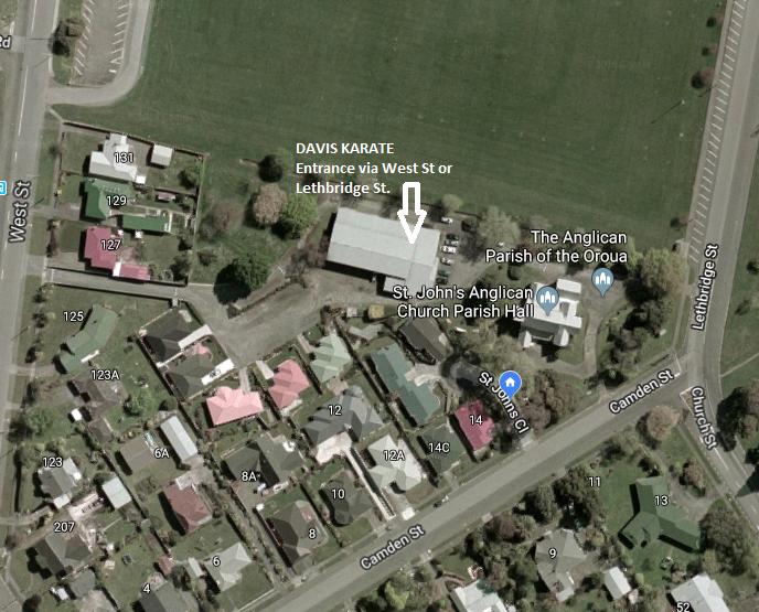 Davis Karate Map
